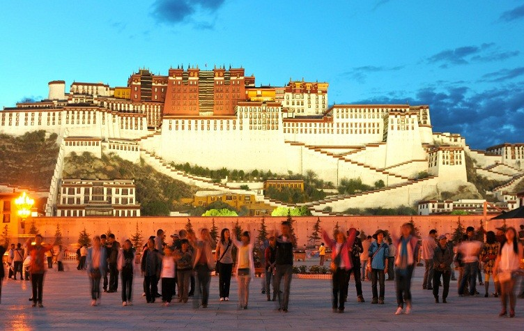 potala palace in the night