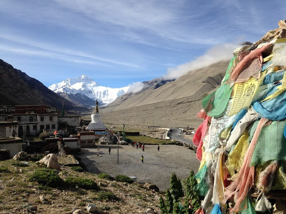 Mount everest in Tibet, tibet travel