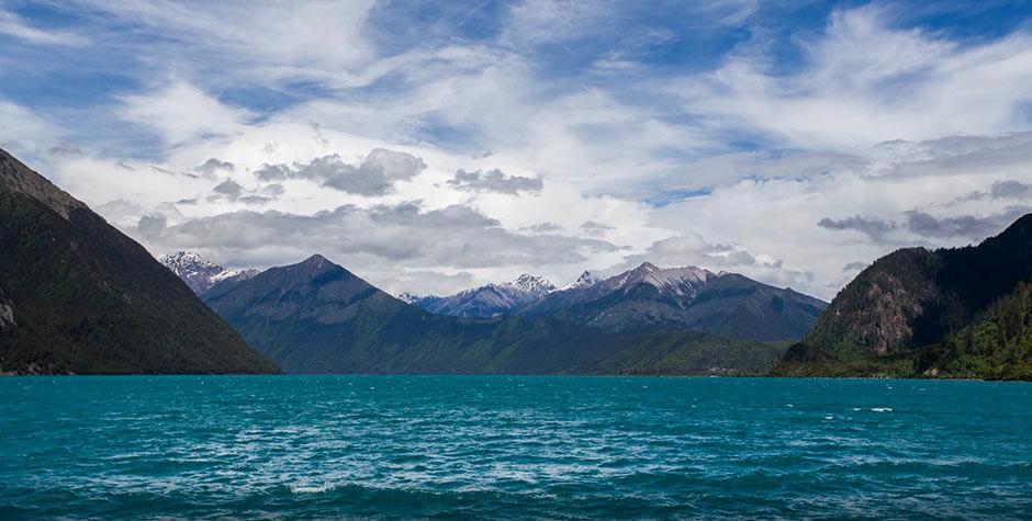 Basum Tso lake in Nyintri
