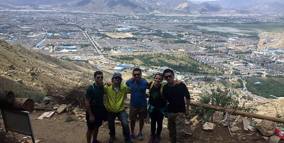 Us on trekking in Lhasa